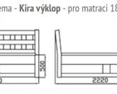 GW Design Kira postel s úložným prostorem
