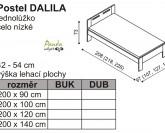 Postel DALILA nízké čelo Ložnice Jelínek