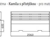 GW Design Kamila II. s přistýlkou a vyklápěcím roštem