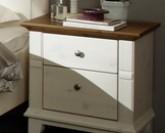 Noční stolek GEORGIA 4108 kombinace bílá a antik Jitona