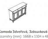 Komoda 3dveřová, 3zásuvková GEORGIA 4440 Jitona