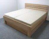 ELLA lux imitace dřeva postel - OBLÉ ROHY