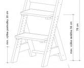 Gazel Zuzu dětská rostoucí židle