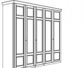 Jitona Piano šatní skříň, 5 dveří