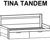 Postel rozkládací TINA TANDEM Ložnice BMB LINE