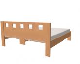 Jelínek Dalila postel čelo vysoké, čtvercové otvory