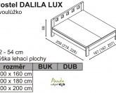Postel DALILA LUX - Ložnice JELÍNEK