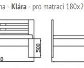 GW design Klára postel