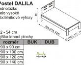 Postel DALILA čelo vysoké obdélníkové výřezy - Ložnice JELÍNEK