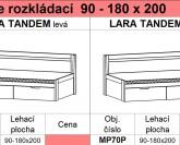 Postel rozkládací LARA TANDEM Ložnice MILET BMB