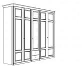 Jitona Piano šatní skříň, 5 dveří, 2 zásuvky