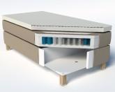 Slumberland Bedford čalouněná postel s úložným prostorem - DETAIL SLOŽENÍ
