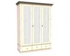 Jitona Georgia šatní skříň, 3 dveře, 3 zásuvky, 3 zrcadla
