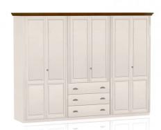 Jitona Ole šatní skříň, 6 dveří, 3 zásuvky