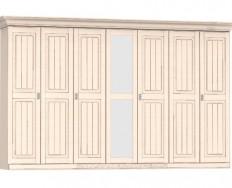 Jitona Malta šatní skříň, 7 dveří, 1 zrcadlo