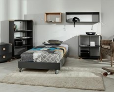 Gazel Street Šedá postel