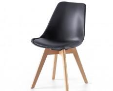 Pisa židle černá na 4 nohách zpevněné lubem