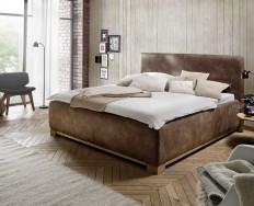 Angers světlehnědá postel s úložným prostorem
