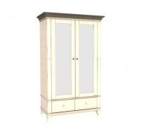 Jitona Georgia šatní skříň, 2 dveře, 2 zásuvky, 2 zrcadla