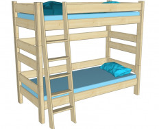 Gazel palanda etážová postel Sendy BUK výška 180 cm