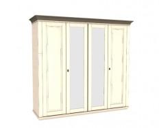 Jitona Georgia šatní skříň, 4 dveře, 2 zrcadla