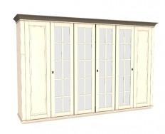 Jitona Georgia šatní skříň, 6 dveří, 4 zrcadla