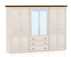 Jitona Ole šatní skříň, 6 dveří, 3 zásuvky, 2 zrcadla