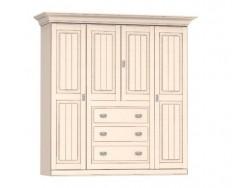 Jitona Malta šatní skříň, 4 dveře, 3 zásuvky