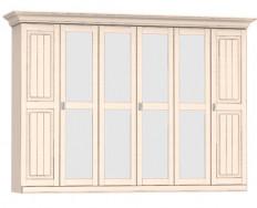 Jitona Malta šatní skříň, 6 dveří, 4 zrcadla
