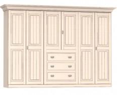 Jitona Malta šatní skříň, 6 dveří, 3 zásuvky