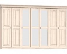 Jitona Malta šatní skříň, 7 dveří, 3 zrcadla