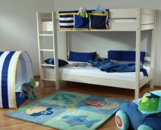 Gazel Keyly bílá patrová postel + Akce