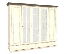 Jitona Georgia šatní skříň, 5 dveří, 5 zásuvek, 3 zrcadla
