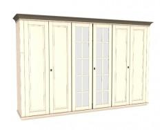 Jitona Georgia šatní skříň, 6 dveří, 2 zrcadla