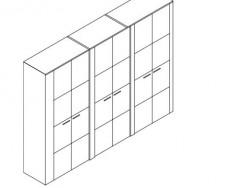 Jitona Keros šatní skříň, 6 dveří