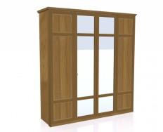 Jitona Piano šatní skříň, 4 dveře, 2 zrcadla