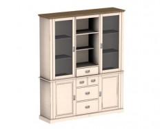 Jitona Country Inn vitrína, 2 dveře, 2 niky, 1 zásuvka, komoda, 2 dveře, 4 zásuvky