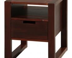 Gazel Rhino noční stolek - D - brown / lak + Akce