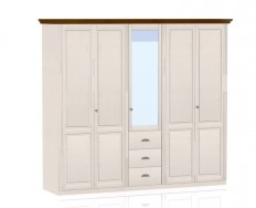 Jitona Ole šatní skříň, 5 dveří, 3 zásuvky, 1 zrcadlo