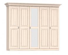Jitona Malta šatní skříň, 5 dveří, 1 zrcadlo