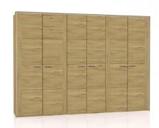 Jitona Keros šatní skříň, 6 dveří, sřímsou alezénami + Akce