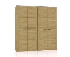 Jitona Keros šatní skříň, 4 dveře, sřímsou alezénami
