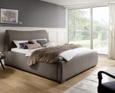 Aubagne béžovohnědá postel 180 x 200 cm