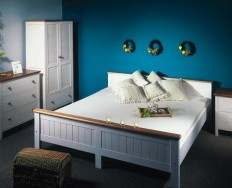 Gazel postel Anny 180 bílo-hnědá + Akce