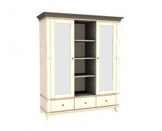 Jitona Georgia šatní skříň, 2 dveře, 3 zásuvky, niky, 2 zrcadla