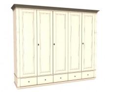 Jitona Georgia šatní skříň, 5 dveří, 5 zásuvek