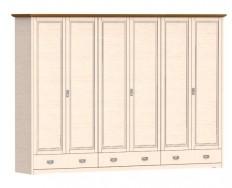 Jitona Country Inn šatní skříň, 6 dveří, 3 zásuvky