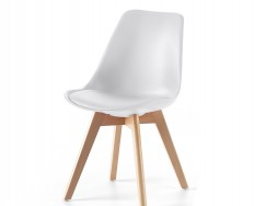 Pisa židle bílá na 4 nohách zpevněné lubem