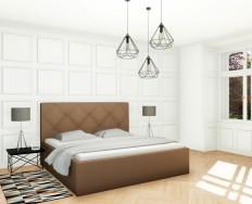 Slumberland Oxford Mistral čalouněná postel s úložným prostorem