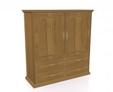 Jitona Piano komoda, 2 dveře, 4 zásuvky, vysoká
